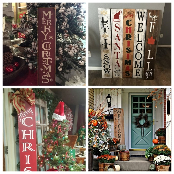 christmas door signs